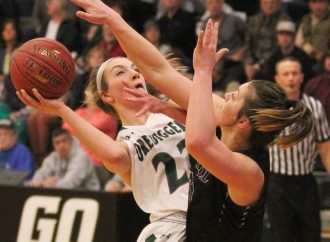Digger women top Saints, secure home playoff game