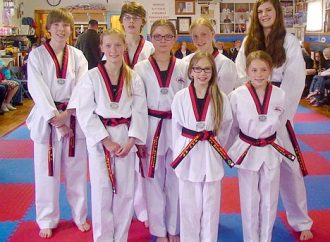 Eight RMMA students promoted to black belt