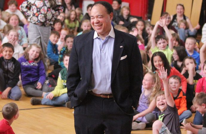 Ron Layton delivers for students of Kennedy
