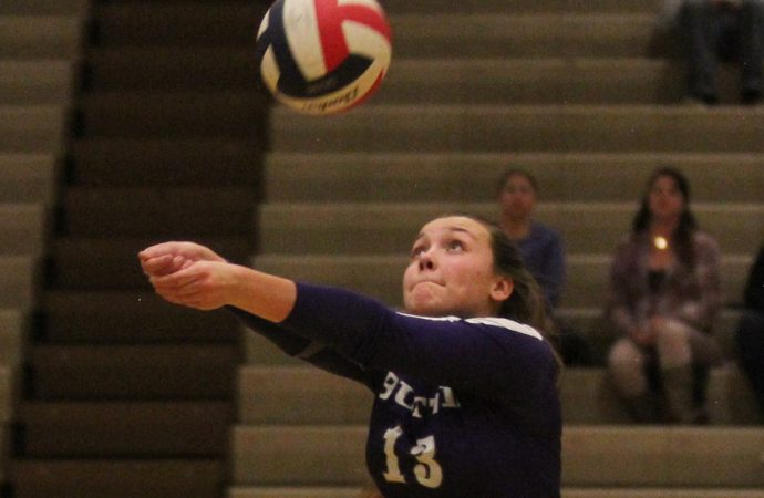 Bethanney Foley gets shot with Western volleyball