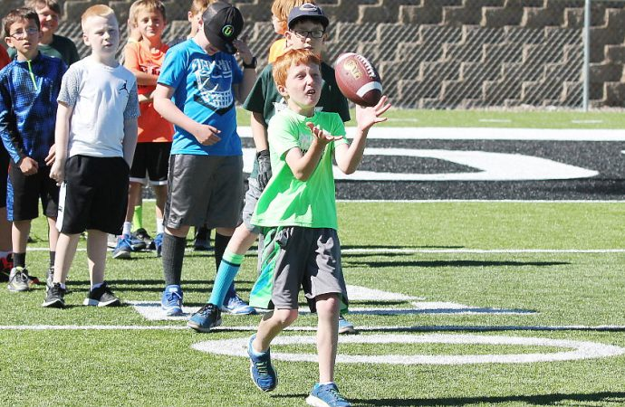 Area boys turn out for Oredigger Little Guy Camp