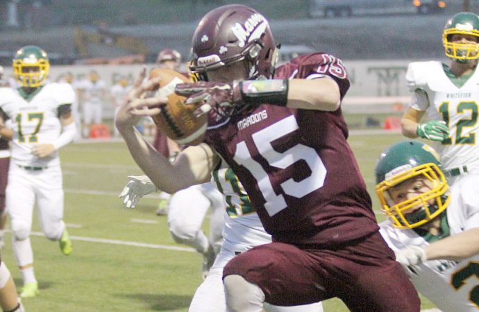 Maroons roll to 2-0 with 49-7 beating of Whitefish