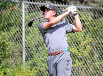 Hoagland ties for fifth at Fighting Saints Classic