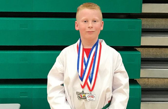 Butte's Shutey wins silver  at Taekwondo State
